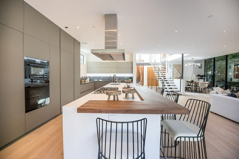 Interior Kitchen of Luxury Home on San Vicente