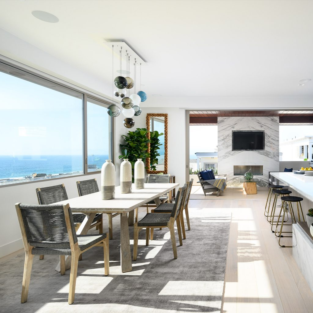 Luxury Living Room with Hardwood Flooring