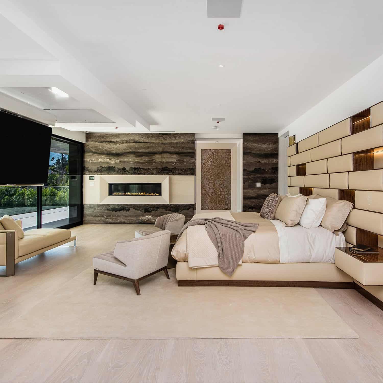 Luxury Interior Bedroom of Home in Beverly Hills